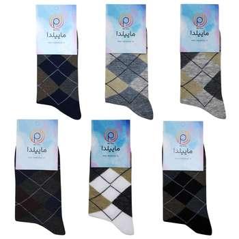 جوراب مردانه ماییلدا کد 3416-100-4 بسته 6 عددی
