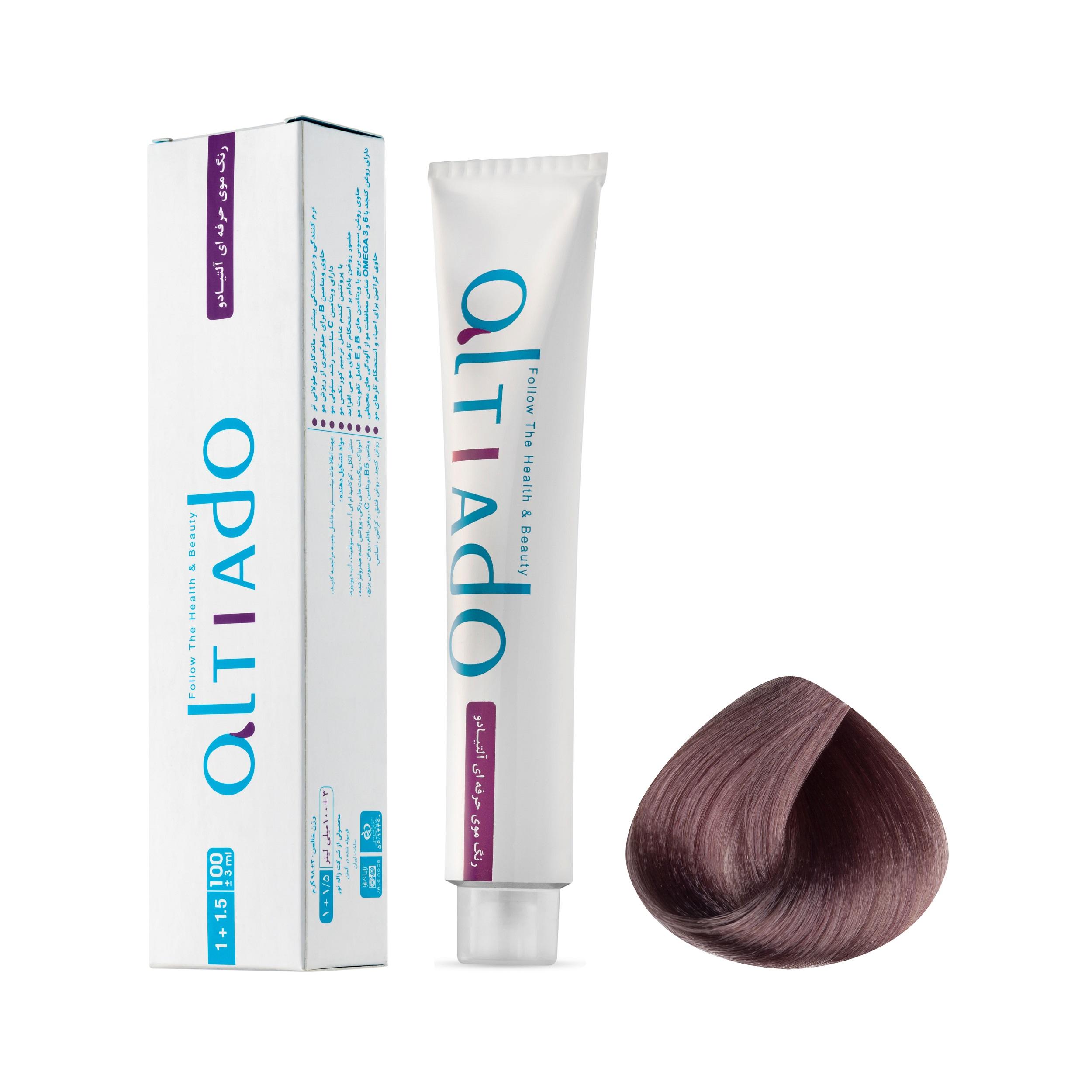 رنگ مو آلتیادو شماره 6.15 حجم 100 میلی لیتر رنگ بلوند ماسه ای متوسط