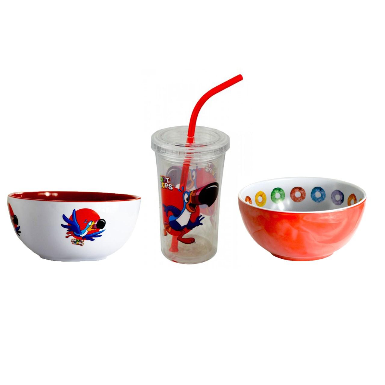 ست 3 عددی غذاخوری کودک کلاگز مدل فروت لوپس