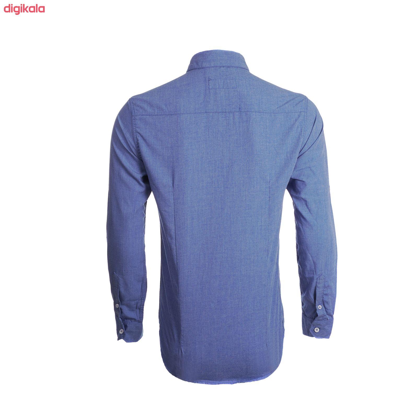 پیراهن آستین بلند مردانه ناوالس مدل MLANZH-BL main 1 3