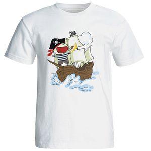 تی شرت آستین کوتاه شین دیزاین طرح دزد دریایی کد 4293
