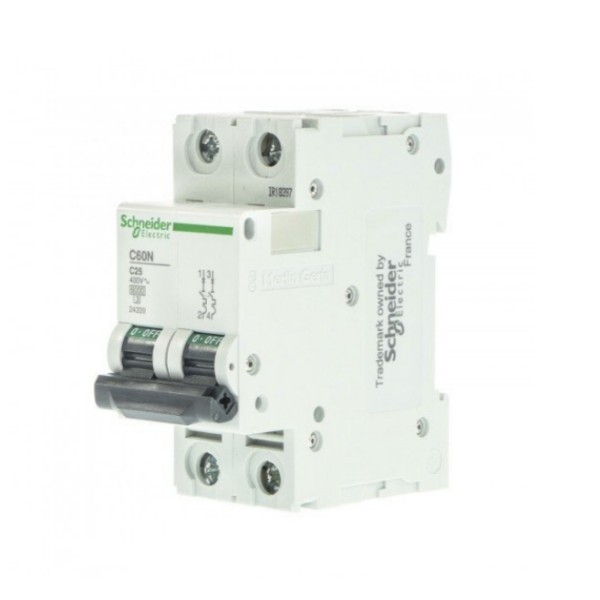 فیوز مینیاتوری دو فاز ۲۵ آمپر اشنایدر الکتریک مدل 25A