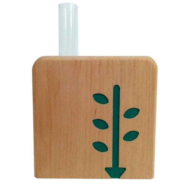 گلدان چوبی تی دار مدل سریت Vt02