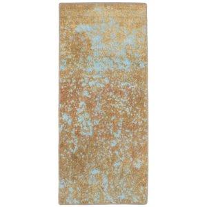 فرش دستبافت رنگ شده کناره طول یک متر نیروانا کد 11594