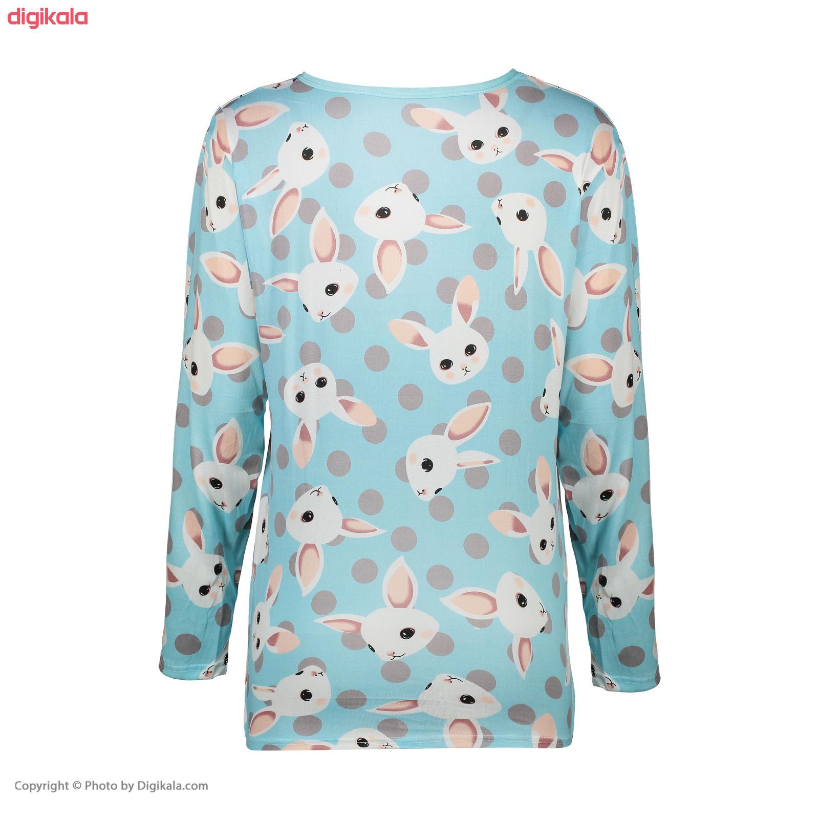 ست تی شرت و شلوار زنانه کد klnqsh- blzpnt.004.1 main 1 4