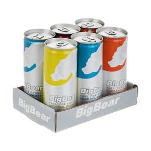 نوشیدنی کوکتل انرژی زا بیگ بر - 250 میلی لیتر مجموعه 6 عددی