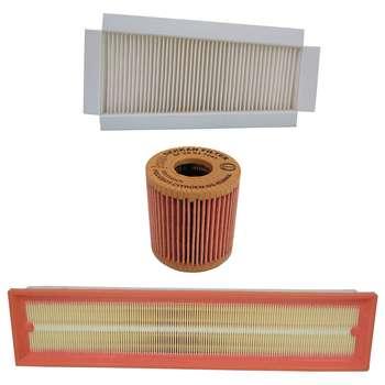 فیلتر هوا خودرو سرکان مدل SF1223 مناسب برای رانا به همراه فیلتر روغن و فیلتر کابین