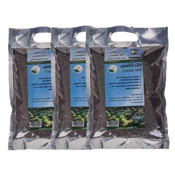 خاک کاکتوس 1 کیلوگرمی گلباران سبز بسته 3 عددی