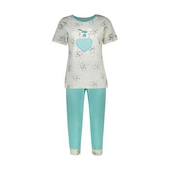 ست تی شرت و شلوارک راحتی زنانه مادر مدل 2041105-54