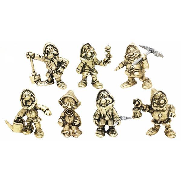 مجسمه فلزی جام هنر مدل هفت کوتوله مجموعه 7 عددی