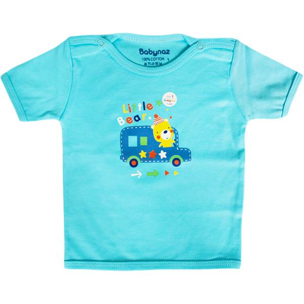 تی شرت آستین کوتاه نوزادی بی بی ناز طرح ماشین کد 003sb