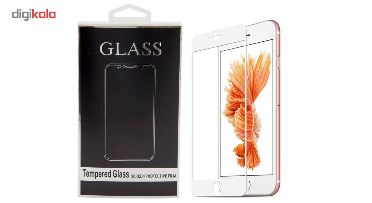 محافظ صفحه نمایش تمام چسب شیشه ای مدل 5D مناسب برای گوشی اپل آیفون 6 پلاس/ 6s پلاس main 1 1