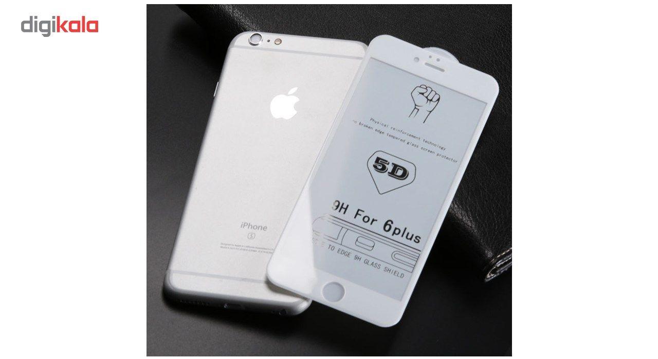 محافظ صفحه نمایش تمام چسب شیشه ای مدل 5D مناسب برای گوشی اپل آیفون 6 پلاس/ 6s پلاس main 1 2