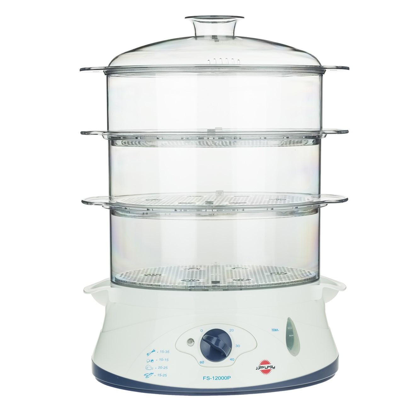 تصویر بخارپز پارس خزر مدل FS-12000P Pars Khazar FS-12000P Steam Cooker