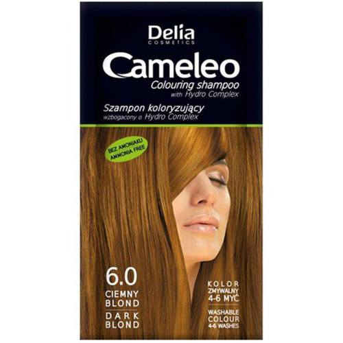 کیت شامپو رنگ مو کاملیو کد6.0 حجم 40 میلی لیتر