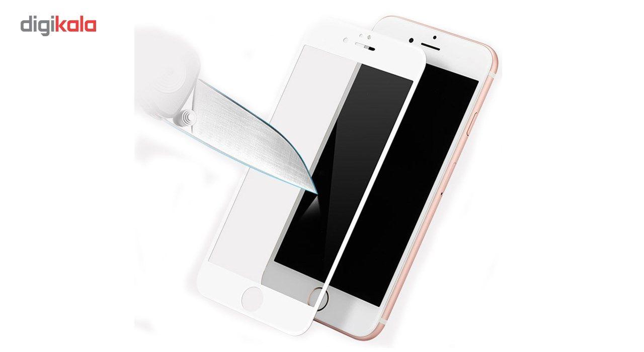 محافظ صفحه نمایش تمام چسب شیشه ای مدل 5D مناسب برای گوشی اپل آیفون 6 پلاس/ 6s پلاس main 1 5