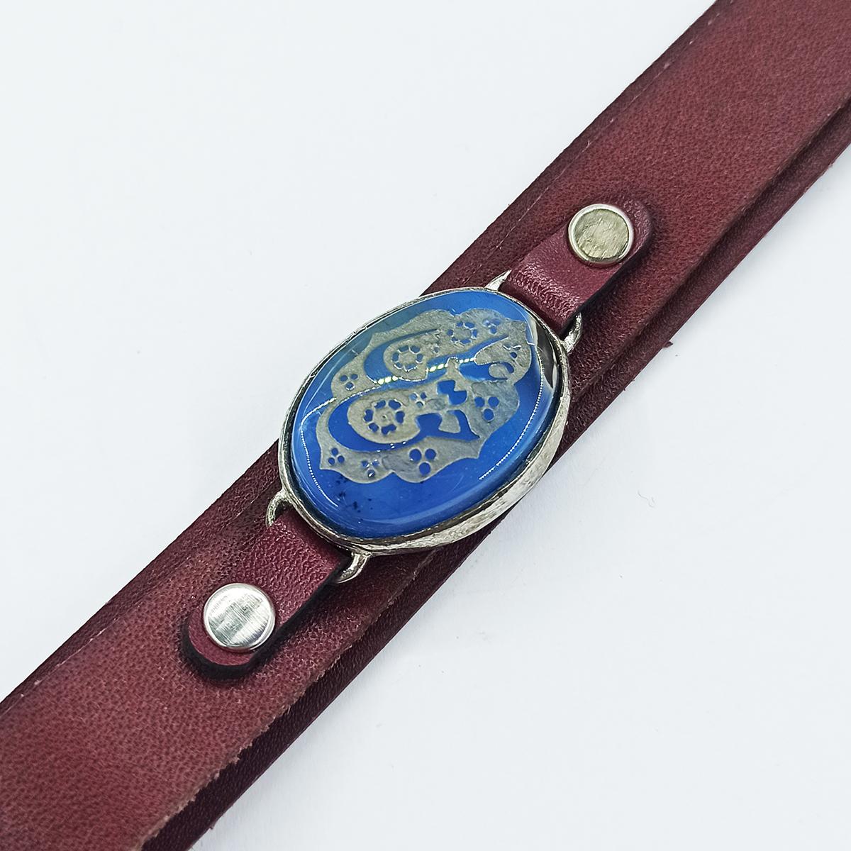 دستبند مردانه سلین کالا مدل عقیق خطی کد ce-As103