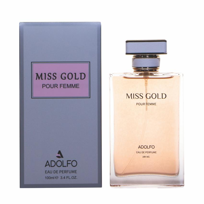 ادو پرفیوم زنانه آدولفو مدل miss gold حجم 100 میلی لیتر