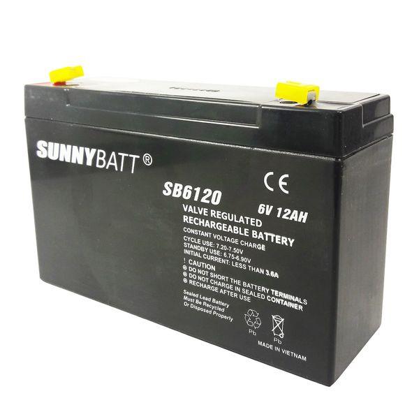 باتری 6 ولت 12 آمپر سانی بت مدل SB6120