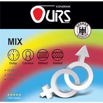 کاندوم ساده اورز مدل Mix بسته 3 عددی