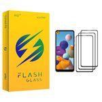 محافظ صفحه نمایش فلش مدل +HD مناسب برای گوشی موبایل سامسونگ Galaxy A21 بسته سه عددی