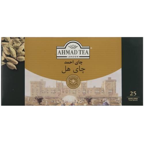 چای کیسه ای احمد با طعم هل بسته 25 عددی