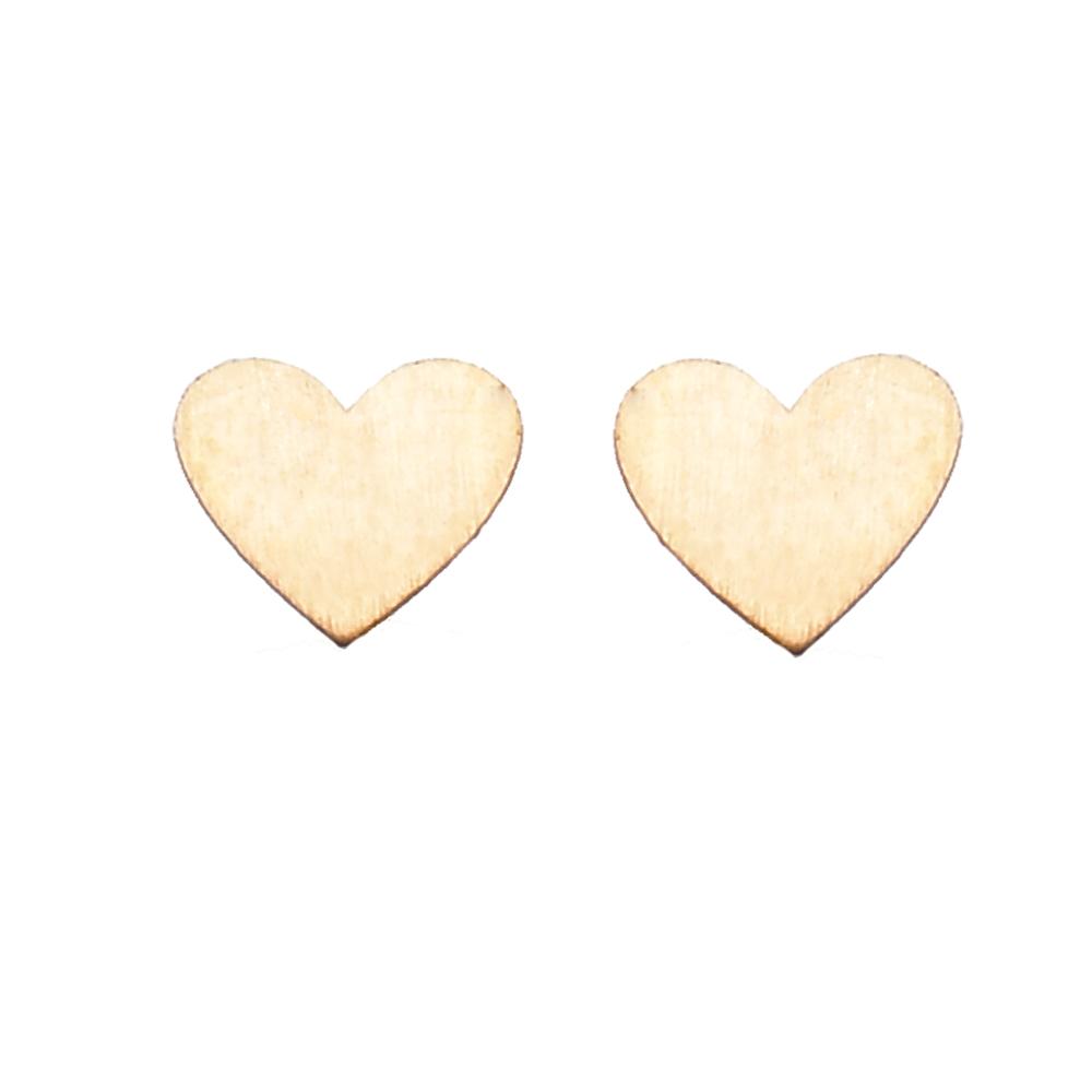 گوشواره طلا 18 عیار زنانه کرابو طرح قلب مدل Kr5010