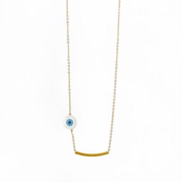 گردنبند طلا 18 عیار زنانه مدل NMN5454