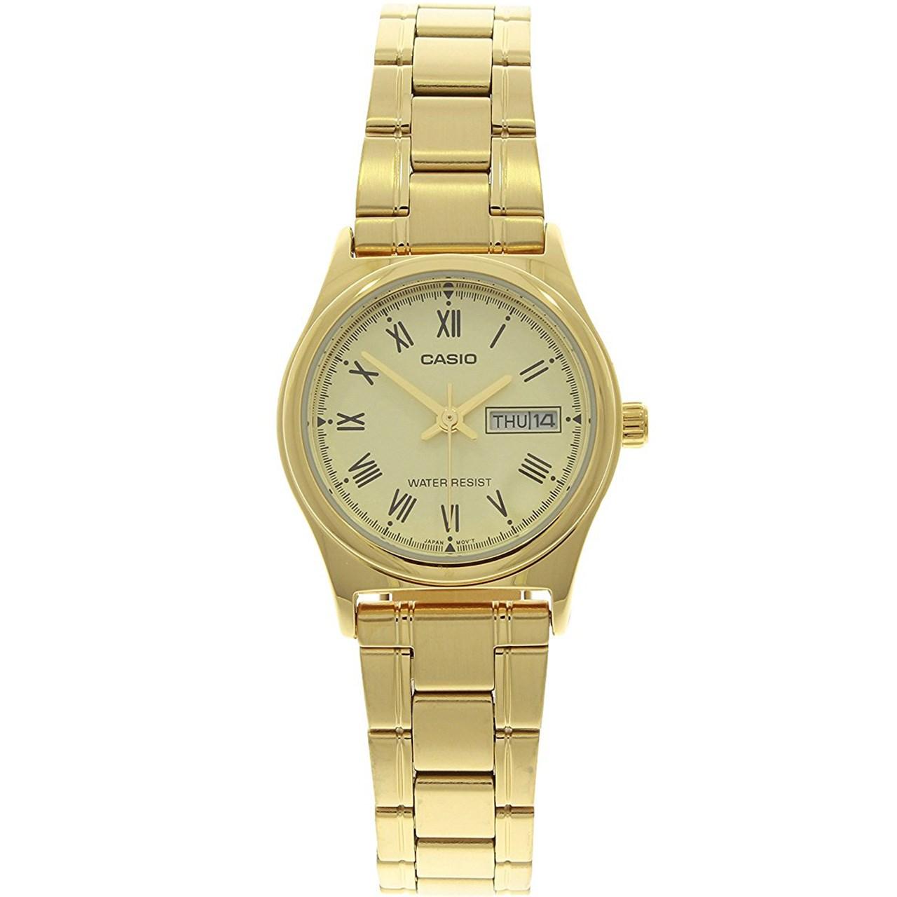 خرید ساعت مچی عقربه ای زنانه کاسیو مدل LTP-V006G-9BUDF