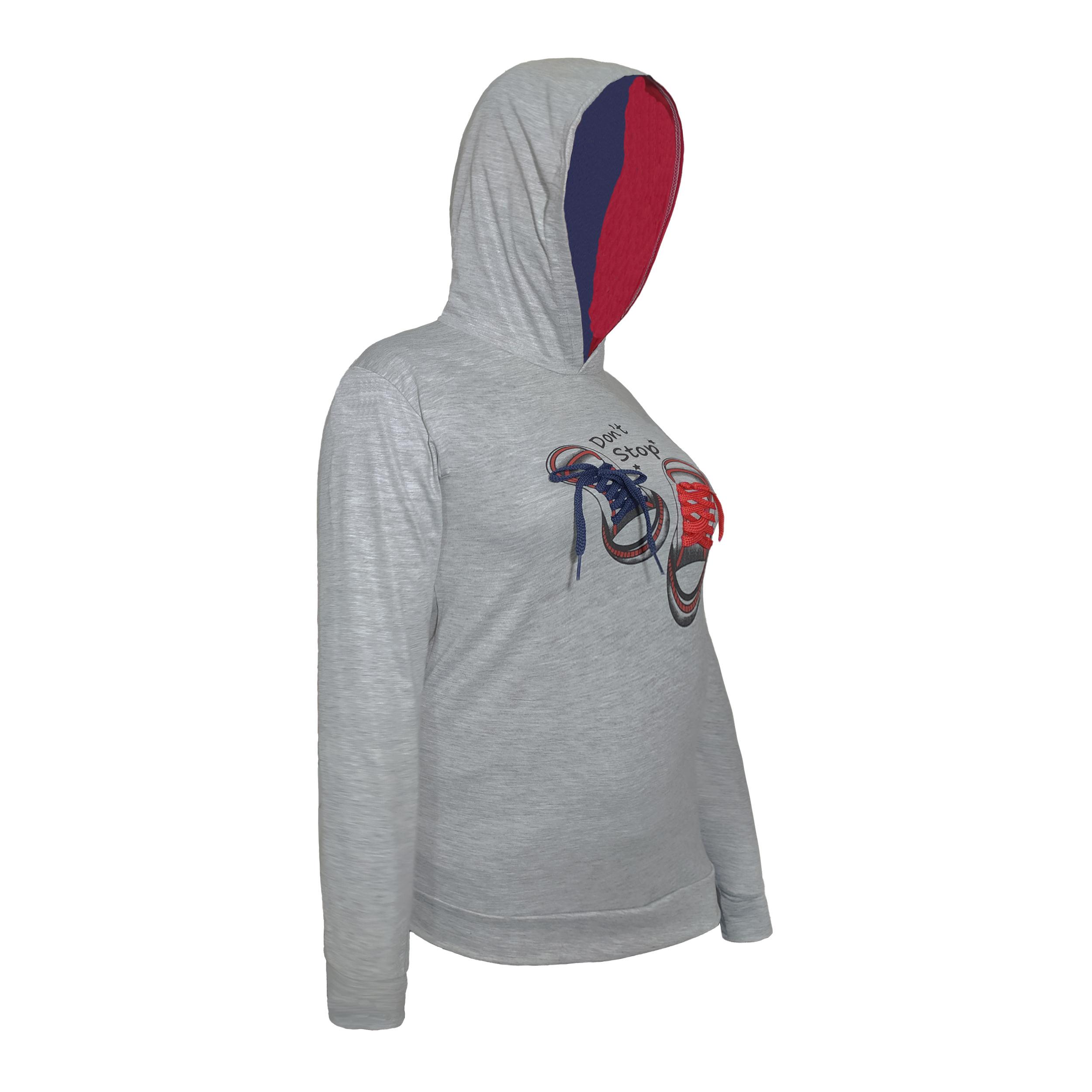 خرید                                      ست هودی و شلوار زنانه طرح کتونی کد 09