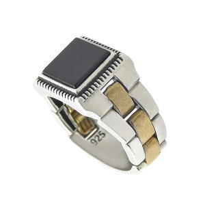 انگشتر نقره مردانه مدل t00147