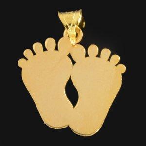 آویز گردنبند طلا 18 عیار دخترانه کد 680