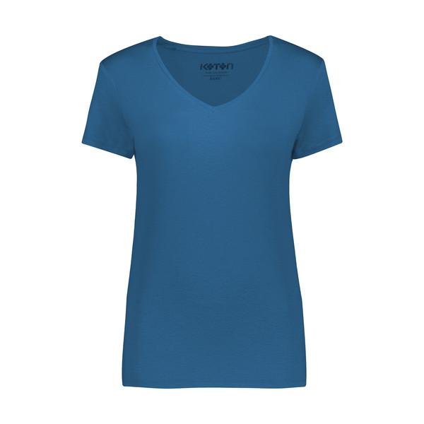 تی شرت زنانه کوتون مدل 0YAK13640OK-Dark Blue