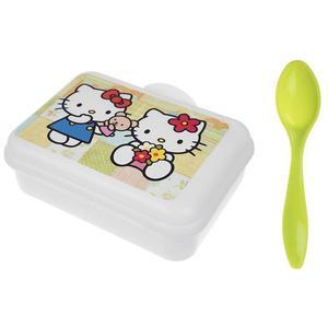 ظرف غذای 2 تکه کودک طرح کیتی کد san_011