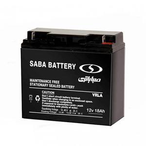 باتری یو پی اس 12 ولت 18 آمپر صبا باطری مدل SB-1218