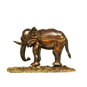 مجسمه چوبی مدل فیل آفریقایی