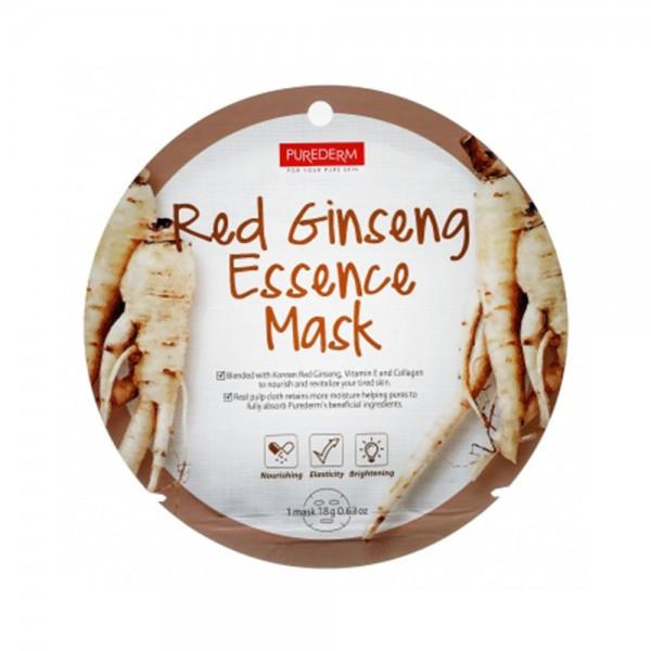 ماسک صورت پیوردرم مدل جینسینگ قرمز وزن 18 گرم
