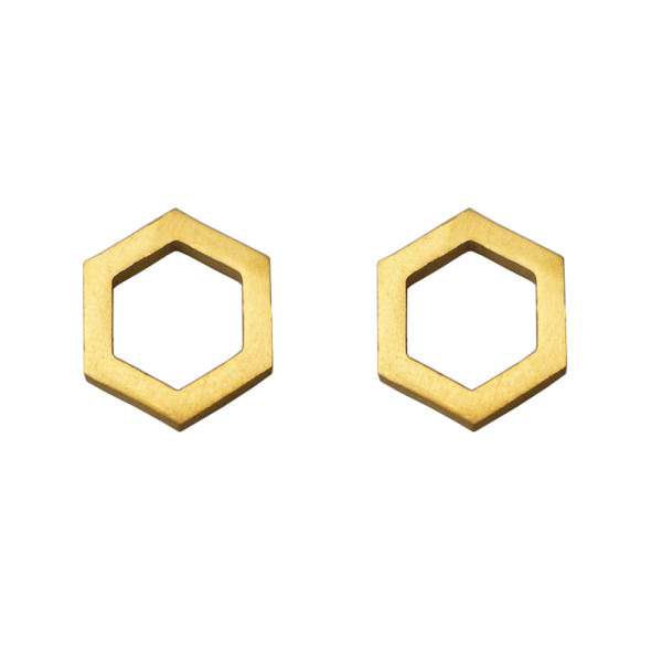 گوشواره زنانهطرح شش ضلعی کد022