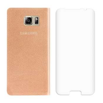 کیف کلاسوری EW Cover مدل RF7 به همراه محافظ صفحه 3D مناسب برای گوشی موبایل سامسونگ گلکسی S7 Edge