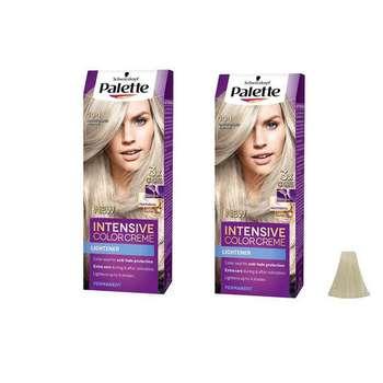 کیت رنگ مو پلت سری Intensive شماره 1-10 حجم 50 میلی لیتر رنگ نقره ای مات مجموعه 2 عددی