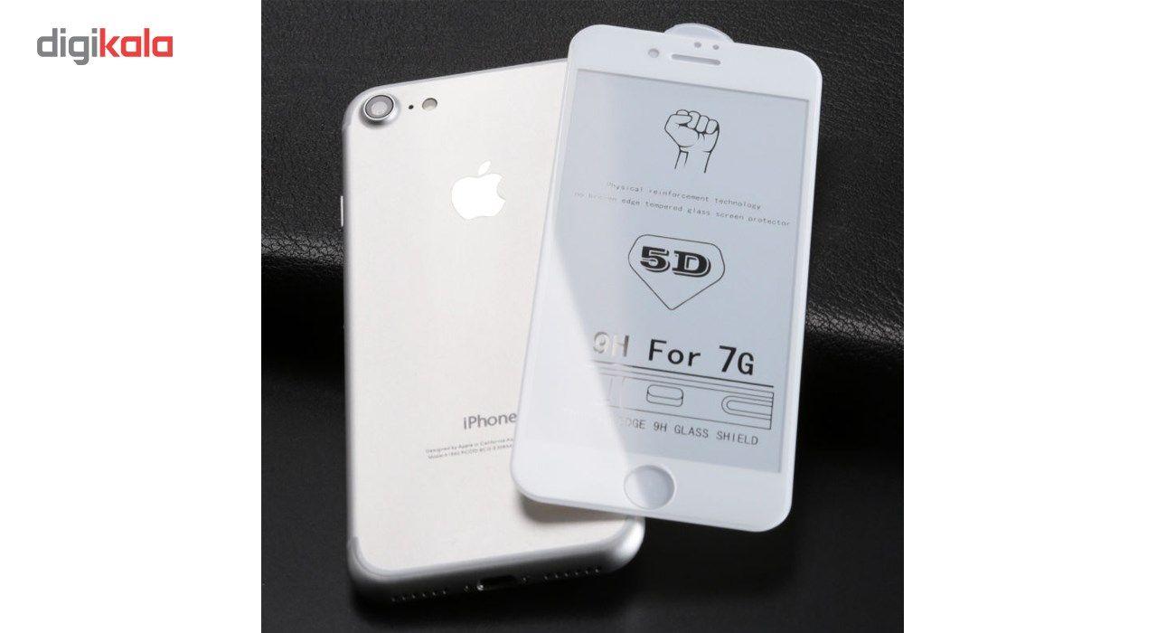 محافظ صفحه نمایش تمام چسب شیشه ای مدل 5D مناسب برای گوشی اپل آیفون 8 main 1 2