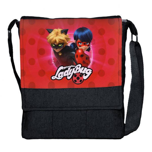 کیف دوشی دخترانه چی چاپ طرح دختر کفشدوزکی و پسر گربه ای کد 65615