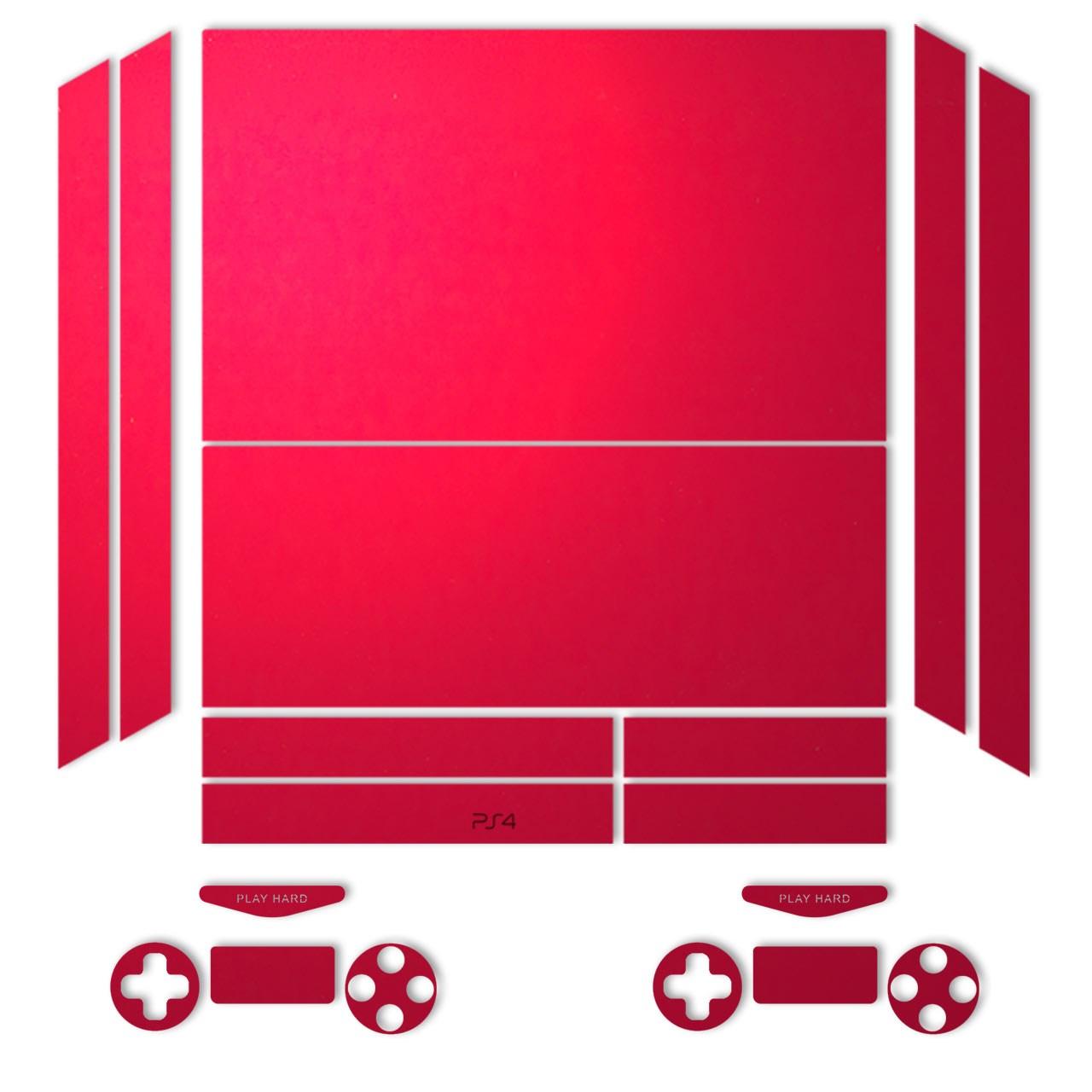 برچسب ماهوت مدل Red-Color Special مناسب برای کنسول بازی PS4