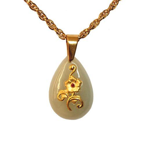 گردنبند طلا 24 عیار ماربلین طرح نازگل کد GJ2007