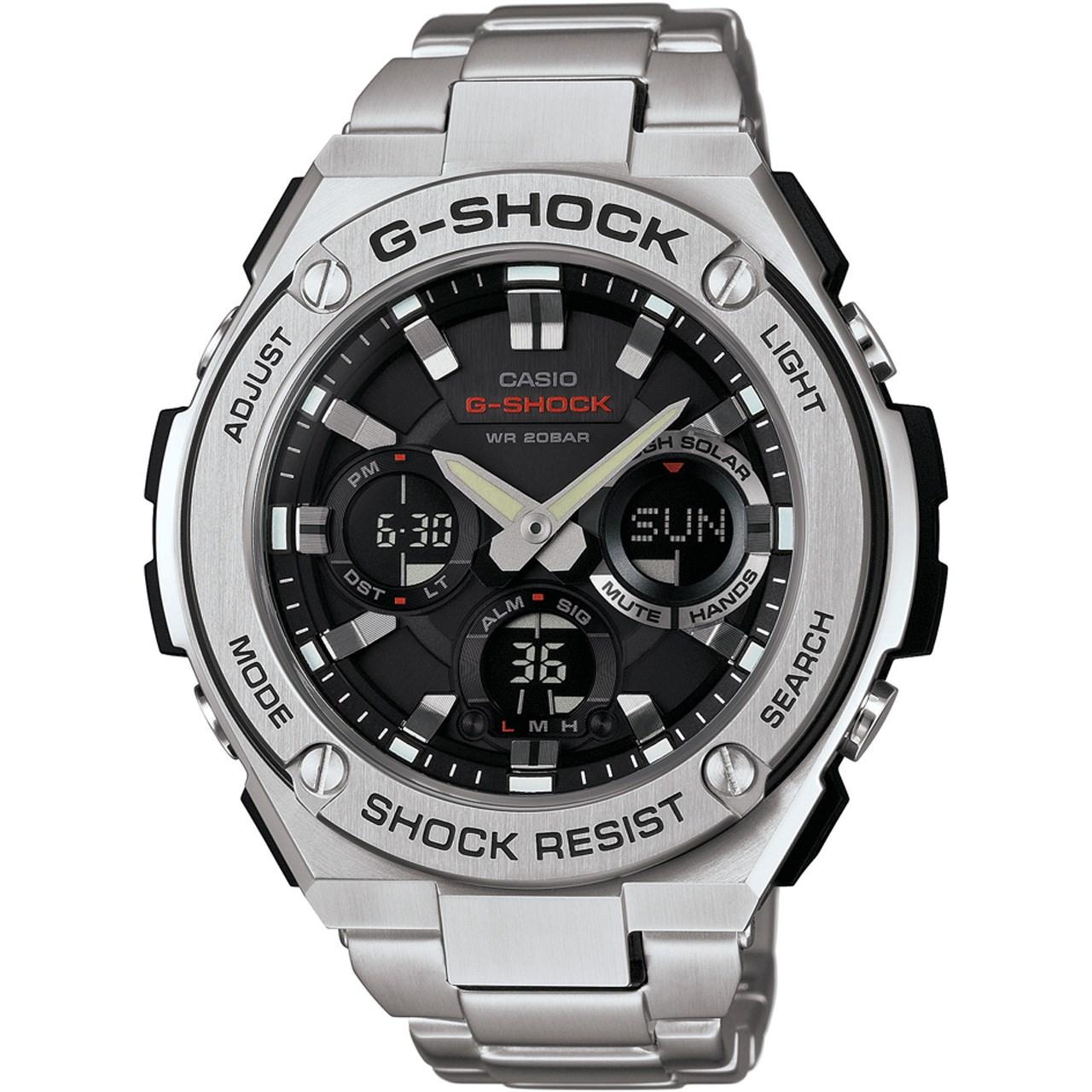 ساعت مچی عقربه ای مردانه کاسیو مدل GST-S110D-1ADR