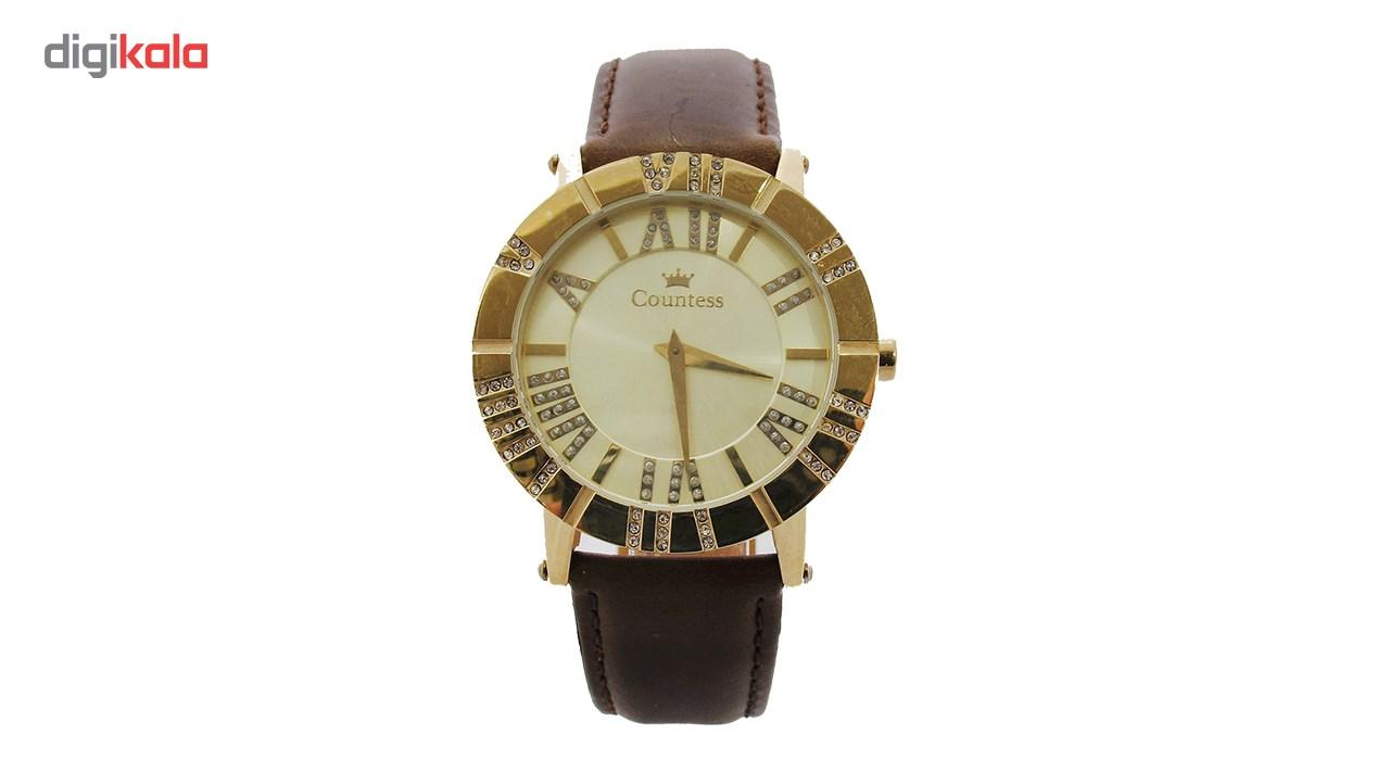 ساعت مچی عقربه ای زنانه کنتس مدل CTS14608GA              خرید (⭐️⭐️⭐️)