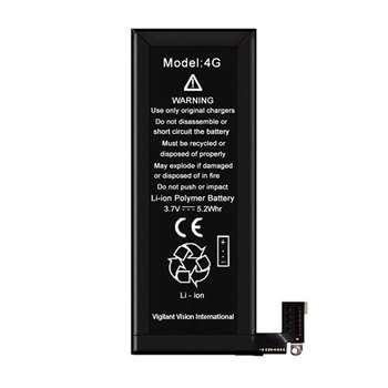 باتری موبایل مدل 4G با ظرفیت 1420mAh مناسب برای گوشی آیفون 4