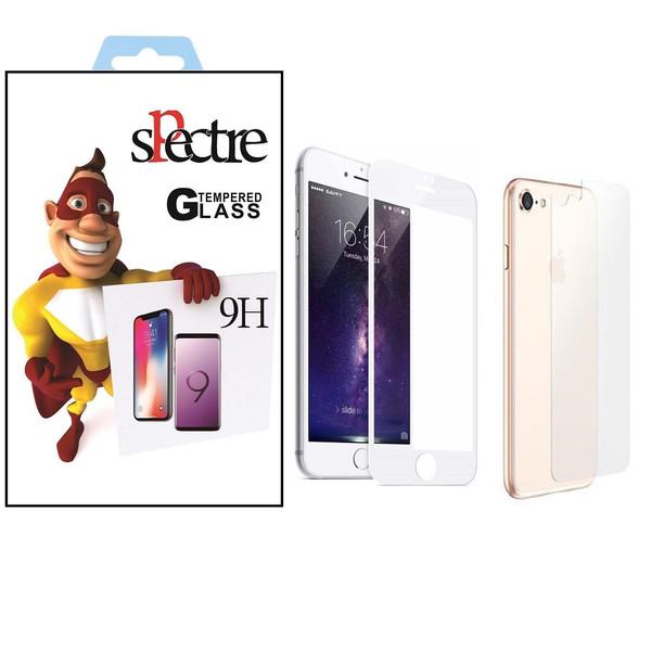محافظ صفحه نمایش و پشت تمام چسب شیشه ای اسپکتر مدل9H مناسب برای گوشی اپل آیفون8/7