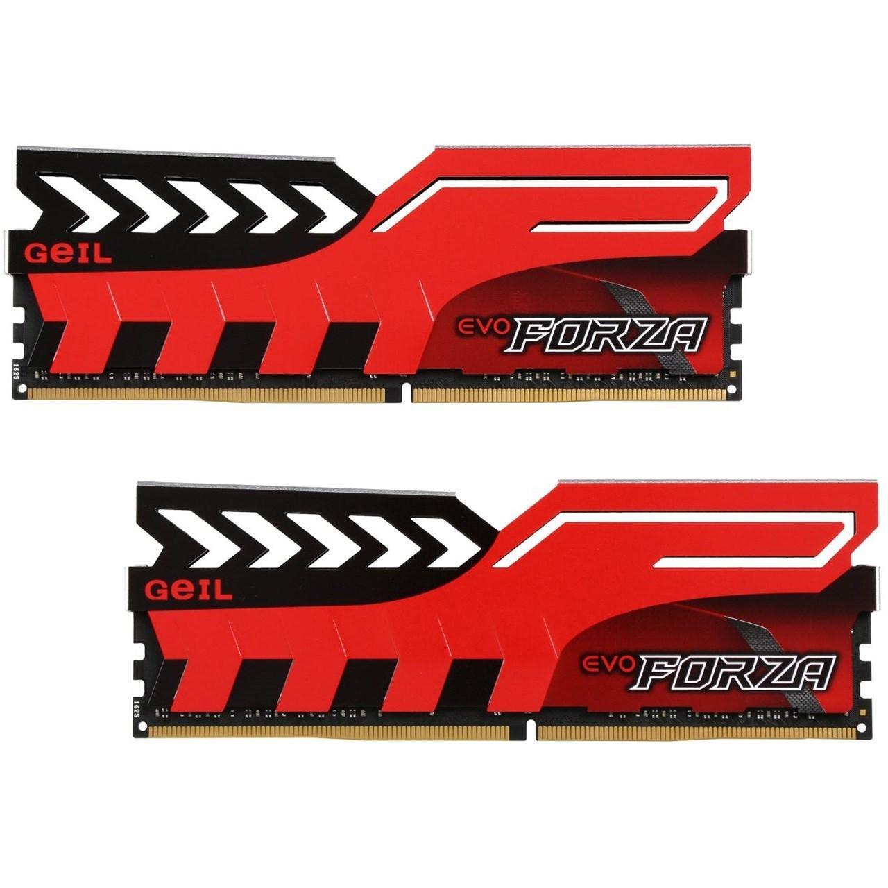 رم دسکتاپ DDR4 دو کاناله 2400 مگاهرتز CL17 گیل مدل Evo Forza ظرفیت 16 گیگابایت