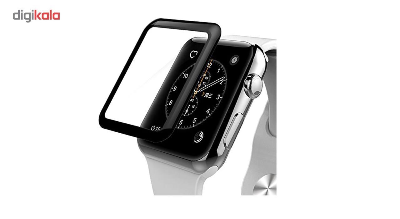 محافظ صفحه نمایش شیشه ای مدل Tempered Glass 3D مناسب برای اپل واچ 38 میلی متر main 1 4